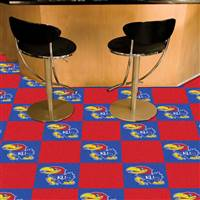 "Kansas Jayhawks Carpet Tiles 18""x18"" tiles, Covers 45 Sq. Ft."