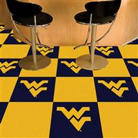 "West Virginia Mountaineers Carpet Tiles 18""x18"" tiles, Covers 45 Sq. Ft."