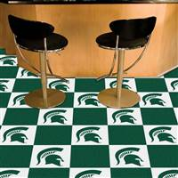"Michigan State Spartans Carpet Tiles 18""x18"" tiles, Covers 45 Sq. Ft."