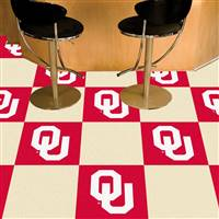 "Oklahoma Sooners Carpet Tiles 18""x18"" tiles, Covers 45 Sq. Ft."