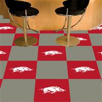 "Arkansas Razorbacks Carpet Tiles 18""x18"" tiles, Covers 45 Sq. Ft."