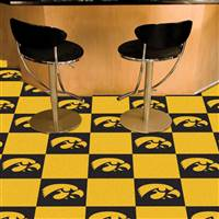 "Iowa Hawkeyes Carpet Tiles 18""x18"" tiles, Covers 45 Sq. Ft."