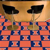 "Illinois Fighting Illini Carpet Tiles 18""x18"" tiles, Covers 45 Sq. Ft."