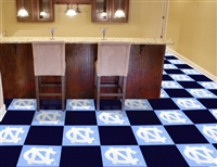 "North Carolina Tar Heels Carpet Tiles 18""x18"" tiles, Covers 45 Sq. Ft."