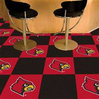"University of Louisville Team Carpet Tiles 18""x18"" tiles"