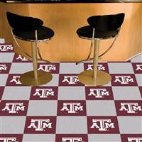"Texas A&M Aggies Carpet Tiles 18""x18"" tiles, Covers 45 Sq. Ft."