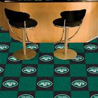 "NFL - New York Jets Team Carpet Tiles 18""x18"" tiles"
