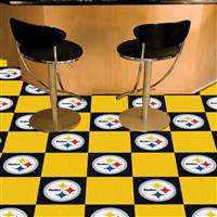 "Pittsburgh Steelers Carpet Tiles 18""x18"" Tiles, Covers 45 Sq. Ft."