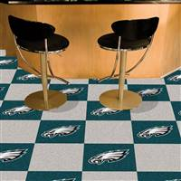 "Philadelphia Eagles Carpet Tiles 18""x18"" Tiles, Covers 45 Sq. Ft."