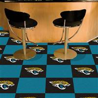 "Jacksonville Jaguars Carpet Tiles 18""x18"" Tiles, Covers 45 Sq. Ft."