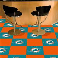 "NFL - Miami Dolphins Team Carpet Tiles 18""x18"" tiles"