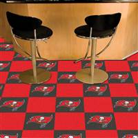 "Tampa Bay Buccaneers Carpet Tiles 18""x18"" Tiles, Covers 45 Sq. Ft."
