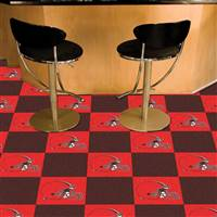 "Cleveland Browns Carpet Tiles 18""x18"" Tiles, Covers 45 Sq. Ft."