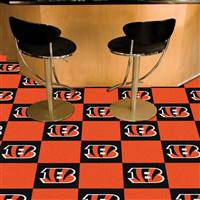 "Cincinnati Bengals Carpet Tiles 18""x18"" Tiles, Covers 45 Sq. Ft."