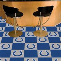 "NFL - Indianapolis Colts Team Carpet Tiles 18""x18"" tiles"