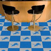 "NFL - Detroit Lions Team Carpet Tiles 18""x18"" tiles"