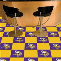 "NFL - Minnesota Vikings Team Carpet Tiles 18""x18"" tiles"