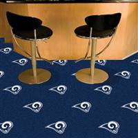"St Louis Rams Carpet Tiles 18""x18"" Tiles, Covers 45 Sq. Ft."