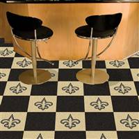 "New Orleans Saints Carpet Tiles 18""x18"" Tiles, Covers 45 sq ft."