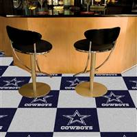 "Dallas Cowboys Carpet Tiles 18""x18"" Tiles, Covers 45 Sq. Ft."