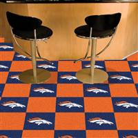 "Denver Broncos Carpet Tiles 18""x18"" Tiles, Covers 45 Sq. Ft."