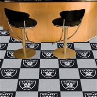 "Oakland Raiders Carpet Tiles 18""x18"" Tiles, Covers 45 Sq. Ft."