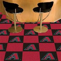"Arizona Diamondbacks Carpet Tiles 18""x18"" Tiles, Covers 45 Sq. Ft."