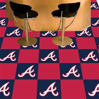 "Atlanta Braves Carpet Tiles 18""x18"" Tiles, Covers 45 Sq. Ft."