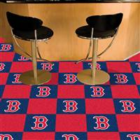 "Boston Red Sox Carpet Tiles 18""x18"" Tiles, Covers 45 Sq. Ft."
