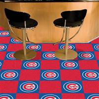 "Chicago Cubs Carpet Tiles 18""x18"" Tiles, Covers 45 Sq. Ft."