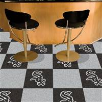 "Chicago White Sox Carpet Tiles 18""x18"" Tiles, Covers 45 Sq. Ft."