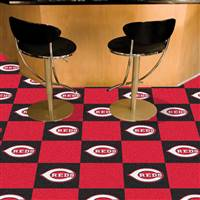 "Cincinnati Reds Carpet Tiles 18""x18"" Tiles, Covers 45 Sq. Ft."