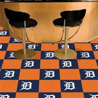 "Detroit Tigers Carpet Tiles 18""x18"" Tiles, Covers 45 Sq. Ft."