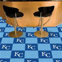 "Kansas City Royals Carpet Tiles 18""x18"" Tiles, Covers 45 Sq. Ft."