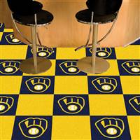 "Milwaukee Brewers Carpet Tiles 18""x18"" Tiles, Covers 45 Sq. Ft."
