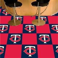 "Minnesota Twins Carpet Tiles 18""x18"" Tiles, Covers 45 Sq. Ft."