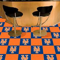 "New York Mets Carpet Tiles 18""x18"" Tiles, Covers 45 Sq. Ft."