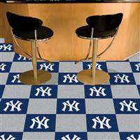 "New York Yankees Carpet Tiles 18""x18"" Tiles, Covers 45 Sq. Ft."