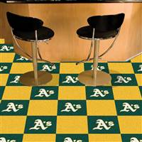 "Oakland Athletics Carpet Tiles 18""x18"" Tiles, Covers 45 Sq. Ft."