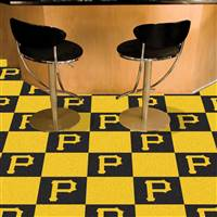 "Pittsburgh Pirates Carpet Tiles 18""x18"" Tiles, Covers 45 Sq. Ft."