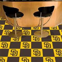 "San Diego Padres Carpet Tiles 18""x18"" Tiles, Covers 45 Sq. Ft."