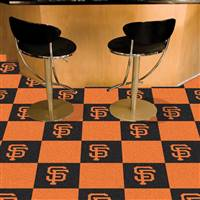 "San Francisco Giants Carpet Tiles 18""x18"" Tiles, Covers 45 Sq. Ft."