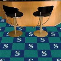 "Seattle Mariners Carpet Tiles 18""x18"" Tiles, Covers 45 Sq. Ft."