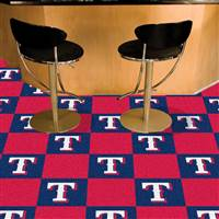 "Texas Rangers Carpet Tiles 18""x18"" Tiles, Covers 45 Sq. Ft."