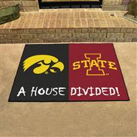 "Iowa Hawkeyes - Iowa State Cyclones House Divided Rug 34""x45"""