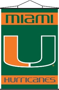 Miami Hurricanes Indoor Banner Scroll