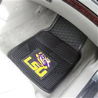 "Louisiana State LSU Tigers Heavy Duty 2-Piece Vinyl Car Mats 18""x27"""