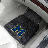 "Michigan Wolverines Heavy Duty 2-Piece Vinyl Car Mats 18""x27"""