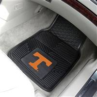 "Tennessee Volunteers Heavy Duty 2-Piece Vinyl Car Mats 18""x27"""