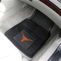 "Texas Longhorns Heavy Duty 2-Piece Vinyl Car Mats 18""x27"""